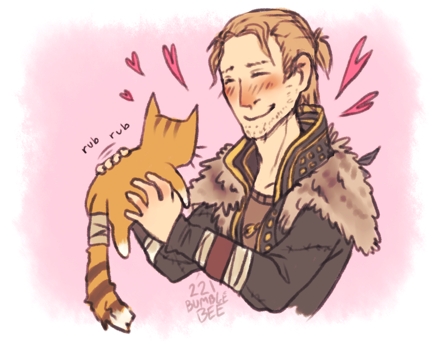 Anders and cat by cannorachan