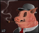 This is not a pig with a pipe.