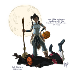Korra-Halloween by Ivanobich