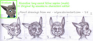 Sivaluon the Riverdine cat - doodles.