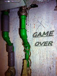 Just 'Game over' and water droplets