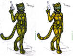 Jayrin in armor with covered ears + recolored one