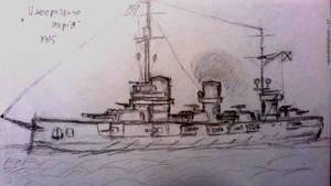 Ironclad battleship - doodle 4