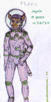 OC Jayrin in a sacesuit (old work remaster)