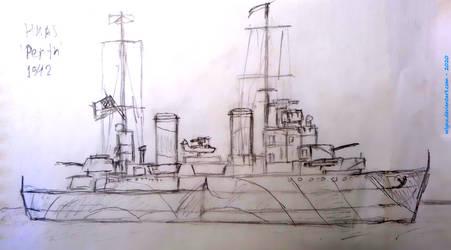 Battleship - doodle 8 (HMAS Perth (1942))