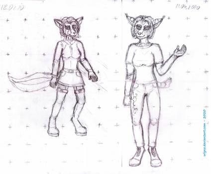 Warming doodle - anthro females
