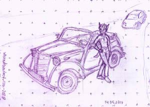 Jayrin and Her Retro Car