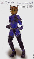OC Jayrin in sneaking suit - colored