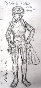 OC Jayrin in some scuba gear - warming doodle