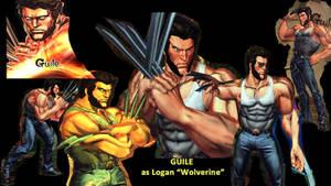 Guile as Logan (Wolverine)