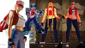 Cammy cosplays Terry Bogard
