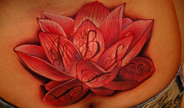 lotus by redliontattoo