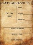 camp half- blood i.d. card