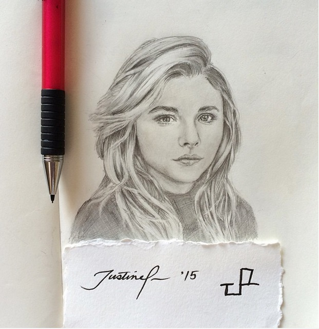 Chloe G Moretz 2 by doodlingsketch