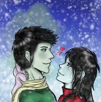 Winter Couple by Kiumii