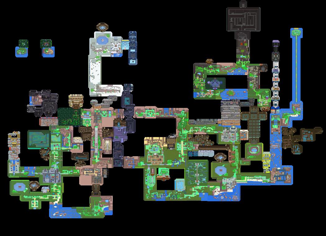 Sinnoh Overworld / Interior Map   Pokemon DPPt by DancingCouches
