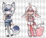 CXV-CXVI Cutie Duo {Set Price} CLOSED by Koru-Adopts