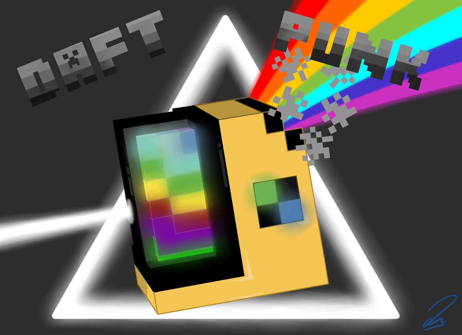 Minecraft DaftPunk Prism by IntrovArt on DeviantArt
