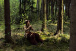 Faun playing the flute