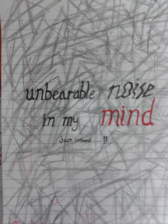 unbearable noise in my mind by SaraSmaha on DeviantArt