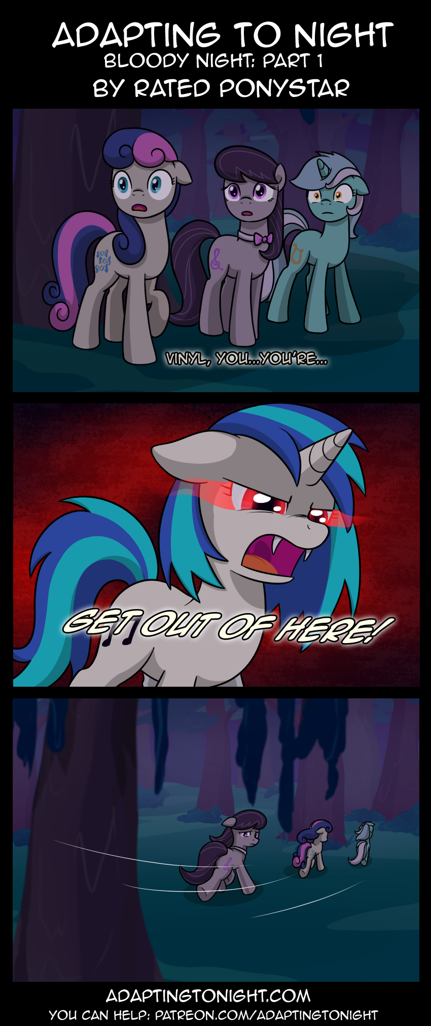 Adapting To Night: Bloody Night - Part 1 by Rated-R-PonyStar