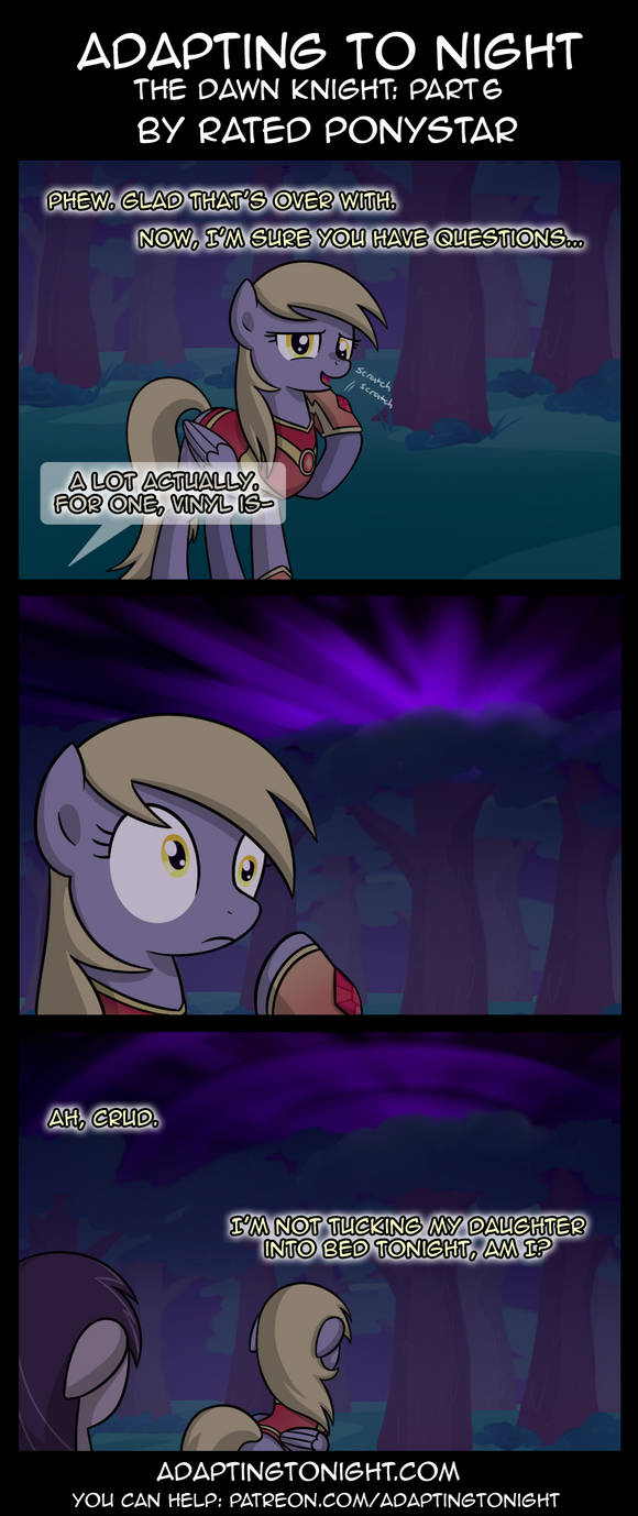 Adapting To Night: The Dawn Knight Part 6 by Rated-R-PonyStar