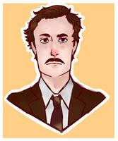 Portrait - Basil Fawlty by MatoMiku1284