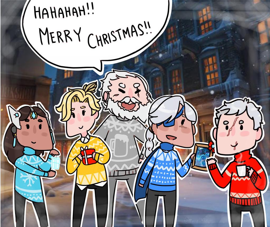 Merry christmas overwatch by matomiku1284 on deviantart - Overwatch christmas wallpaper ...