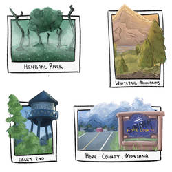 Hope County Stickers by MatoMiku1284