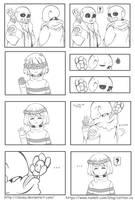 Undertale x Flowerfell comic by ClaveA