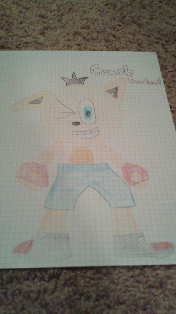 Old Crash Bandicoot Art by DemonDamon97