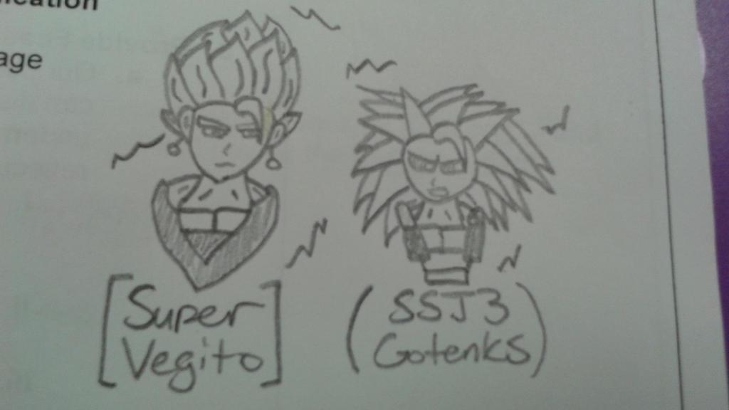Super Saiyans on mah sheet by DemonDamon97