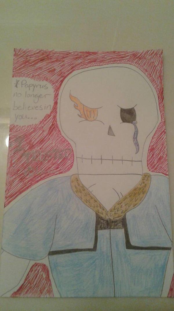 Papyrus's Despair by DemonDamon97