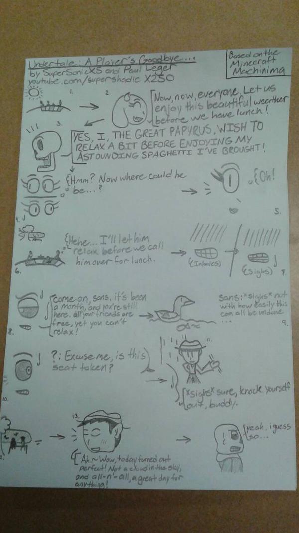 UT: A Player's Goodbye... (Drawn Edition Part 1) by DemonDamon97