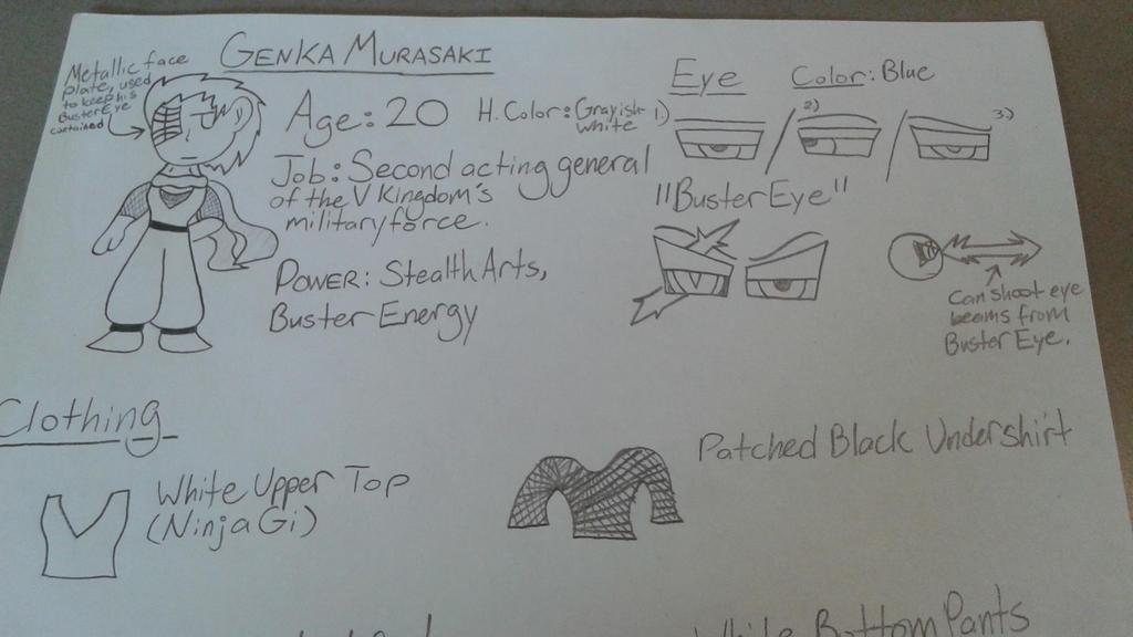 (Genka) Part 1 - V Kingdom Character Sheet 3 by DemonDamon97