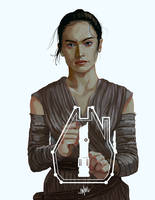Rey! [The Force Awakens!] by SteamyTomato