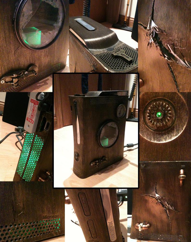 Steampunk Custom xbox 360 2 by Kiwikku