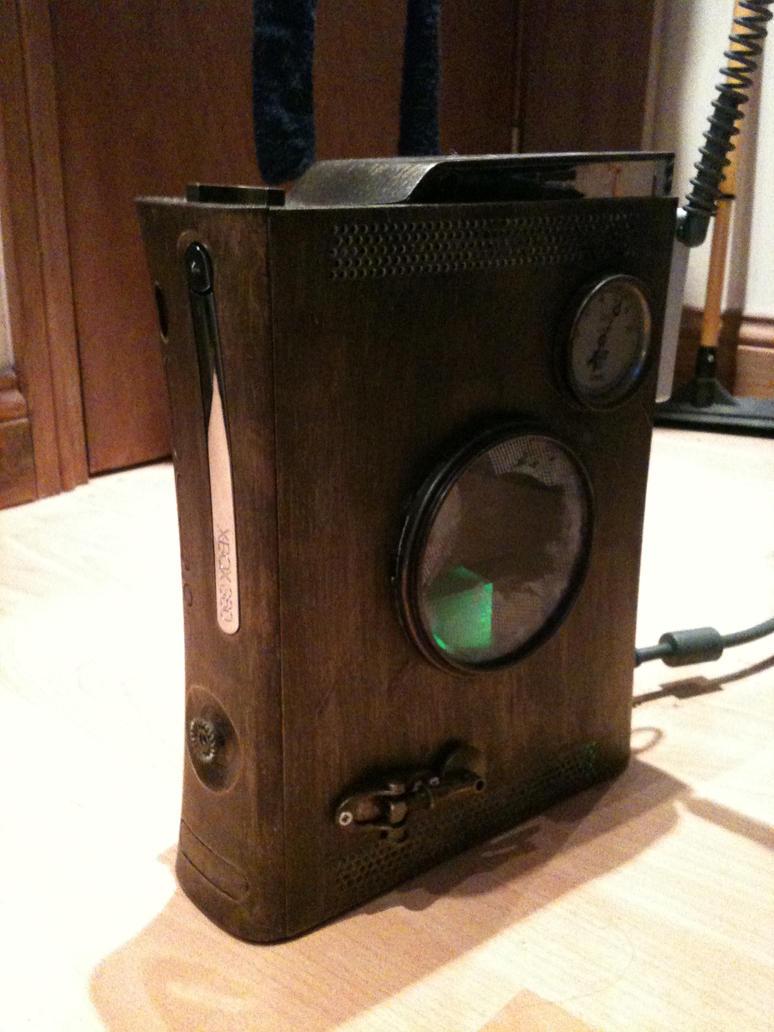Steampunk Custom xbox 360 by Kiwikku