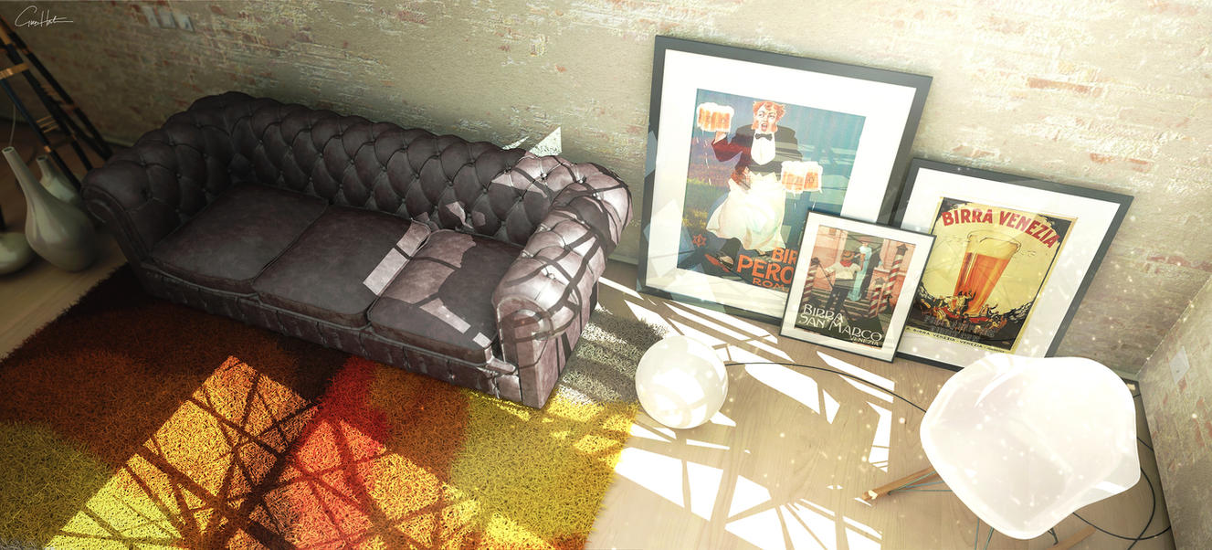 Studio Living room 02 by gg31hh