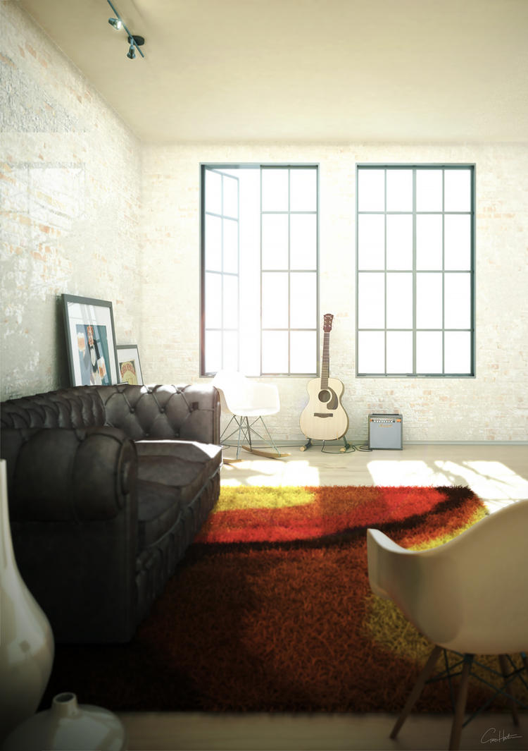 Studio Living room 03 by gg31hh