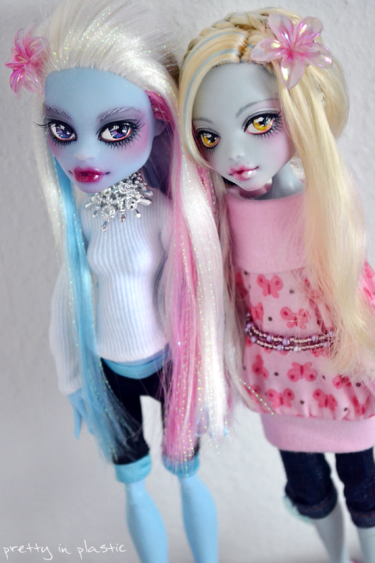 Abbey + Loona - MH repaints by prettyinplastic