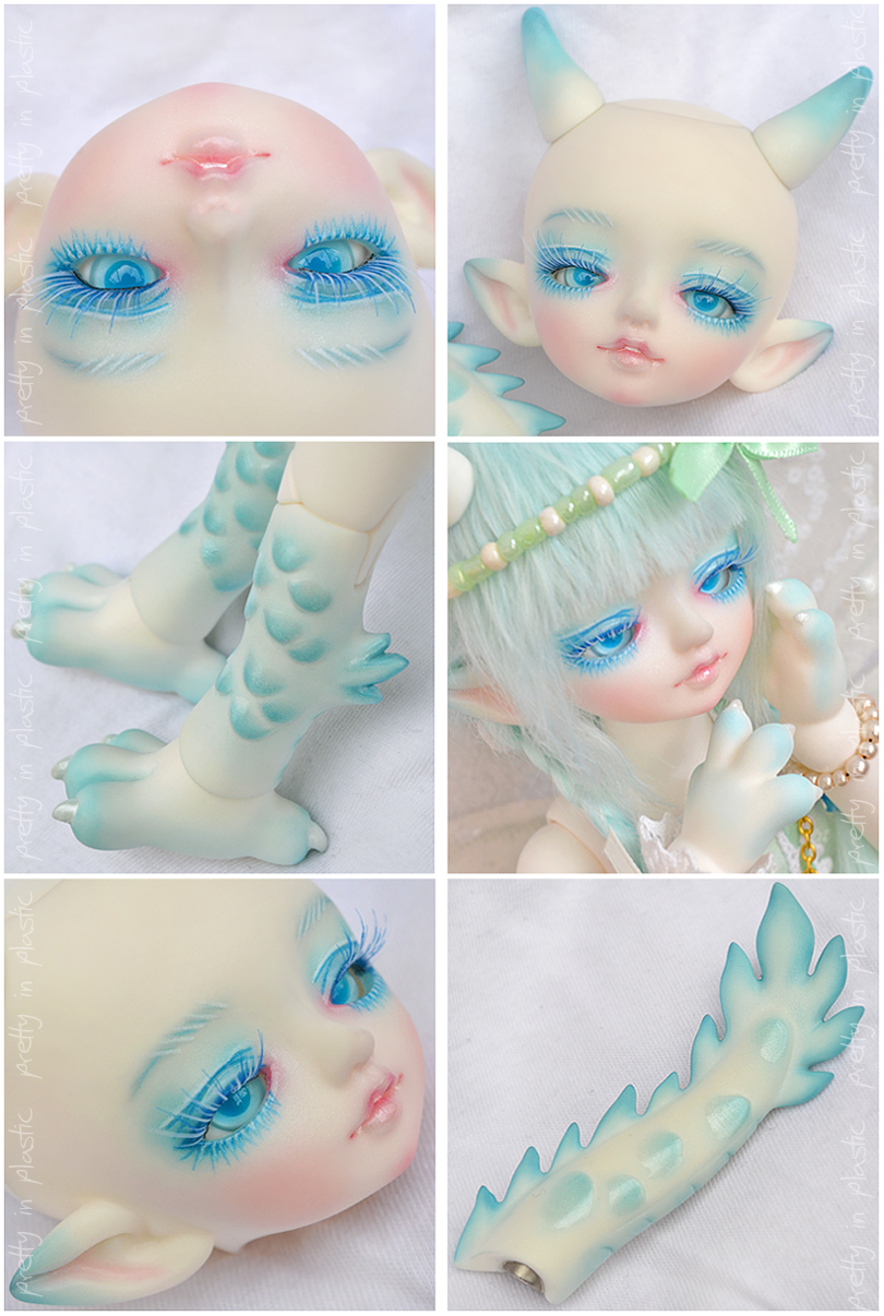 Face-Up + Blushing: Sky by prettyinplastic