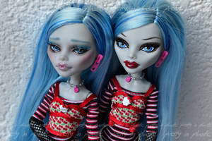 Commission - MH Ghoulia repaint - comparison by prettyinplastic