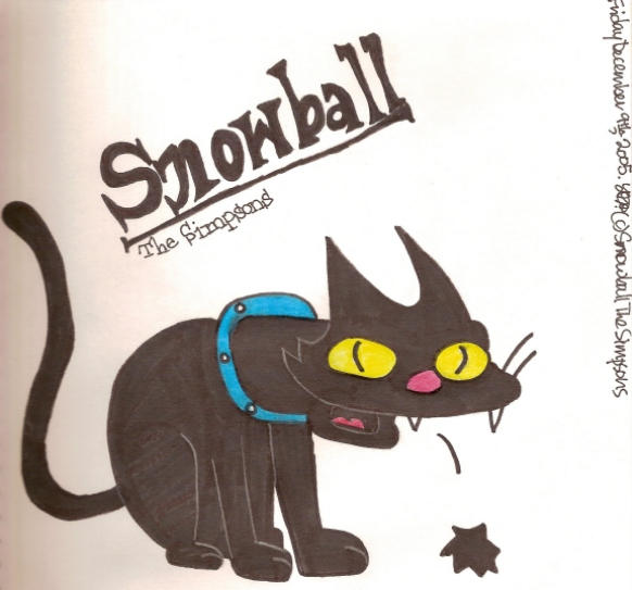 Snowball from The Simpsons by Desart