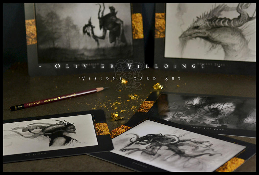 Visions - Set of 5 Cards by Olivier-Villoingt