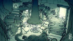 Broceliande - The Hut Interior (Colours)