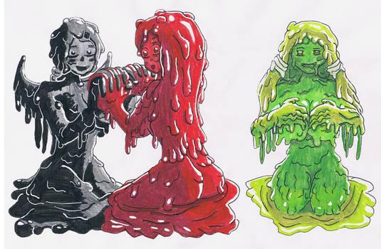 Hotlloween-Day 13-Sexy Slime Girls