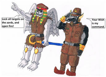 Art-Trade: Enemies of The Power Rangers of Freedom