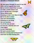BE A STRONG PERSON POEM by Aim4Beauty