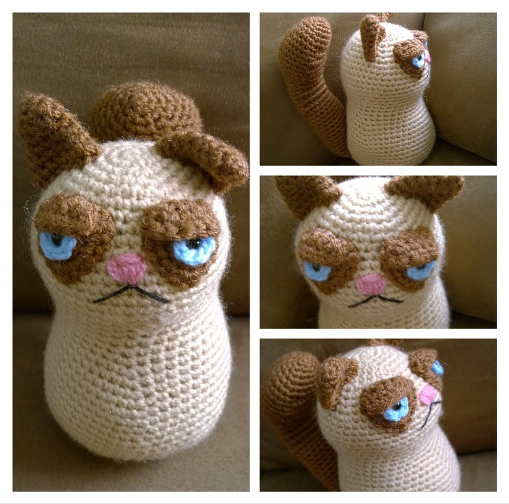 Grumpy Cat | Knitted cat, Knitting projects, Yarn humor | 1014x1024
